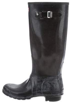 Hunter Rubber Round-Toe Boots