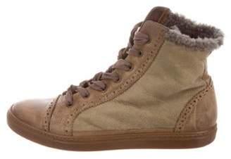 Brunello Cucinelli Brogue High-Top Sneakers Brogue High-Top Sneakers