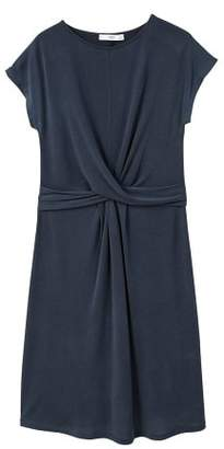 MANGO Knotted modal-blend dress