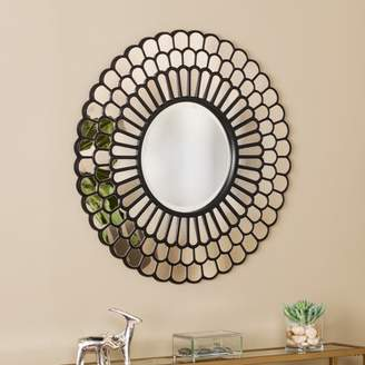 Southern Enterprises Tewilla Geometric Decorative Wall Mirror, Black