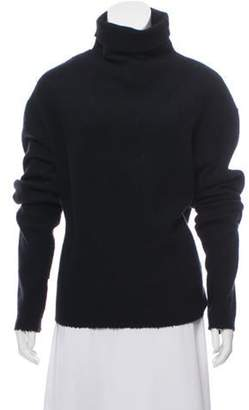 Isabel Marant Virgin Wool & Angora Blend Sweater Black Virgin Wool & Angora Blend Sweater