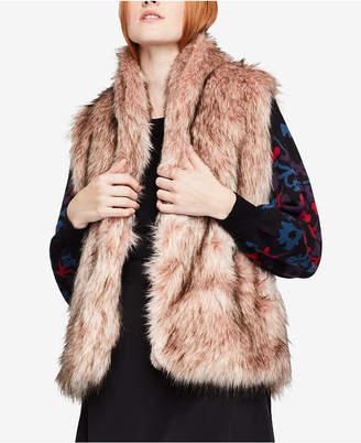 BCBGeneration Open-Front Faux-Fur Vest