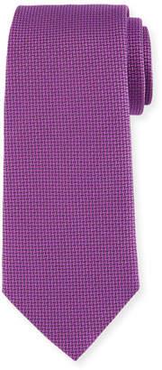 Armani Collezioni Herringbone Silk Tie, Fuchsia
