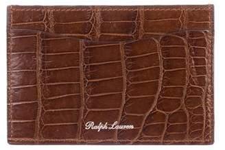 Ralph Lauren Alligator Card Case w/ Tags