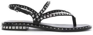 Ash Peps Black Leather Studded Sandals