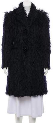 Marc Jacobs Knee-Length Faux Fur Coat