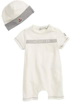 Moncler Short Romper & Beanie Gift Set