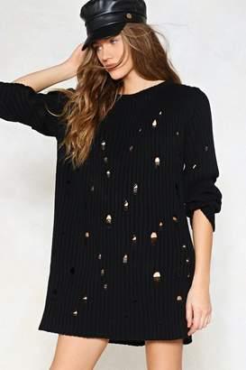 Nasty Gal Hole Hearted Sweater Dress