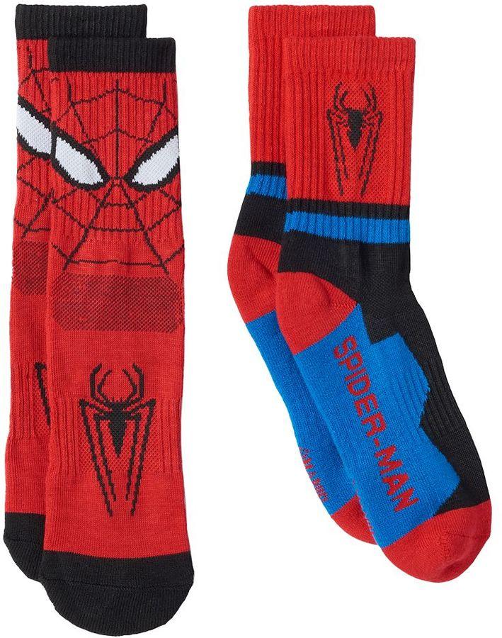 Boys 8-20 Marvel Spider-Man 2-Pack Athletic Socks