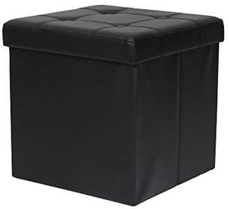 "Otto & Ben 15"" Storage Ottoman - Folding Toy Box Chest with Memory Foam Seat"