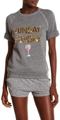 Bow & Drape Sunday Funday Short Sleeve Pullover