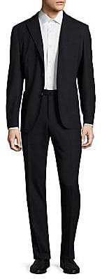 Boglioli Men's Hopsack Wool Suit