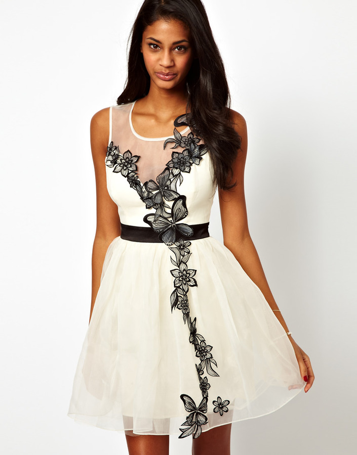 Lipsy VIP Tutu Dress with Butterfly Detail