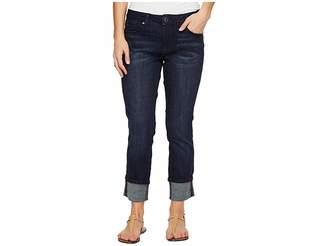 Jag Jeans Petite Petite Maddie Skinny Cuff in Crosshatch Denim in Night Breeze Women's Jeans