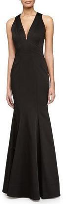 ZAC Zac Posen Sirena Sleeveless V-Neck Gown, Black $690 thestylecure.com