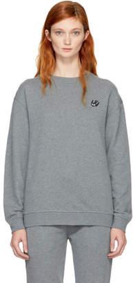 McQ Grey Swallow Badge Sweatshirt