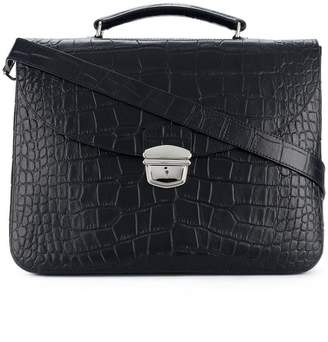 Orciani classic top-handle briefcase