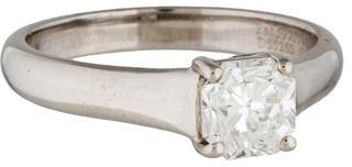 Tiffany & Co. Platinum Lucida Diamond Engagement Ring $4,775 thestylecure.com