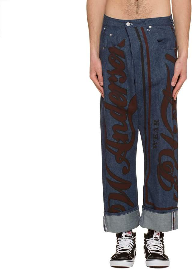 J.W. Anderson Printed Fold Front Jeans