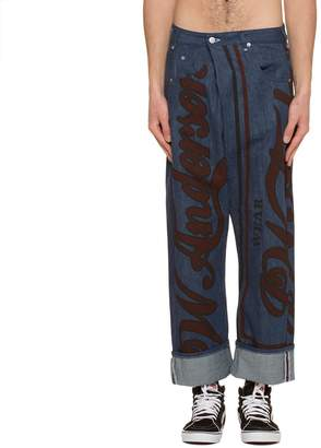 J.W.Anderson Printed Fold Front Jeans