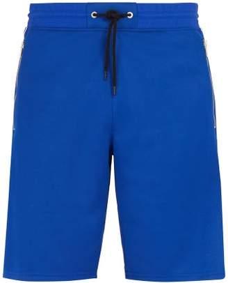 Givenchy Logo Jacquard Side Stripe Shorts - Mens - Blue