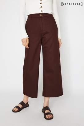 Warehouse Womens Purple Casual Wide Leg Trousers - Purple