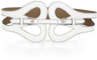 BCBGMAXAZRIA Butterfly-Front Buckle Belt $68 thestylecure.com