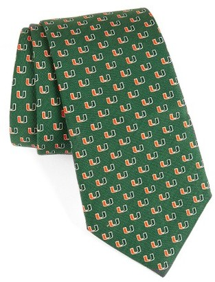Men's Vineyard Vines University Of Miami Silk Tie $85 thestylecure.com