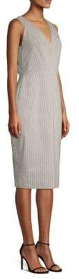 Donna Karan Striped Sheath Dress