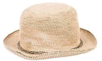 Comme des Garçons Woven Fedora Hat Tan Comme des Garçons Woven Fedora Hat