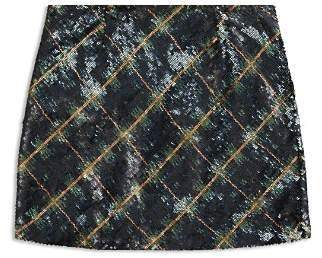 Ralph Lauren Girls' Plaid Sequin Skirt - Big Kid