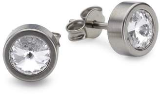 Pure Grey No 11412 Las Earring Studs With Swarovski Stones Colour Crystal