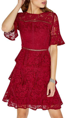 Girls On Film Lace Tiered Dress