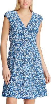 Chaps Women's Floral Surplice Dress