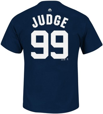 Majestic Big & Tall New York Yankees Aaron Judge Name and Number Tee