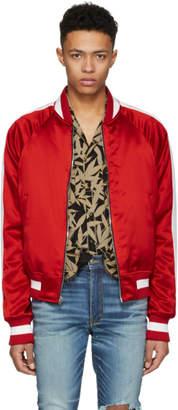 Amiri Reversible Red and Black Track Jacket