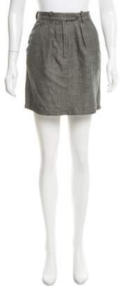 Isabel Marant Textured Mini Skirt Grey Textured Mini Skirt