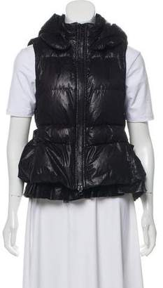 RED Valentino Lace-Accented Down Vest