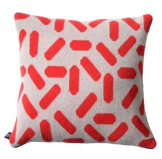 TiCTAC Giannina Capitani - Tic-Tac Cushion Large in Grey & Red/Black Zip
