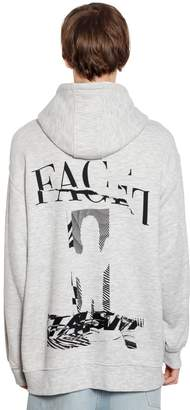 Facetasm Oversize Hooded Cotton Jersey Sweatshirt