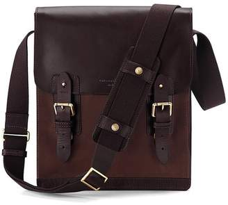 Aspinal of London Small Shadow Messenger In Brown Nubuck