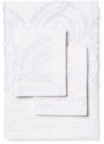 Melange Home Padma Three-Piece Embroidered Duvet Set