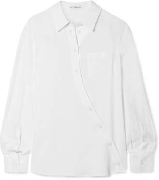 Altuzarra Garcia Asymmetric Crepe De Chine Shirt - White