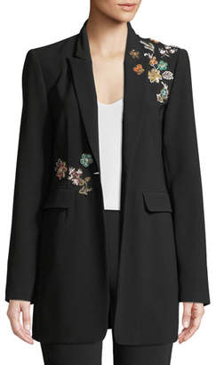 Cinq à Sept Venus Embellished Single-Button Jacket