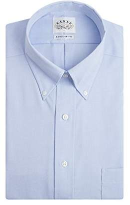 Eagle Men's Non Iron Regular Fit Solid Button Down Collar Dress Shirt