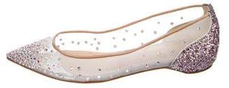Christian Louboutin Follies Strass Pointed-Toe Flats