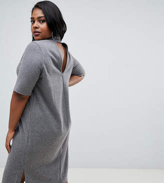Asos DESIGN Curve super soft midi t-shirt dress with open back