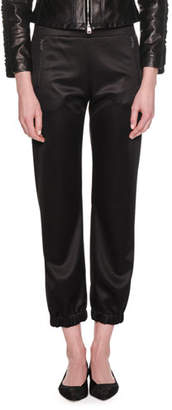 Giorgio Armani Pull-On Viscose Jersey Cropped Jogger Pants