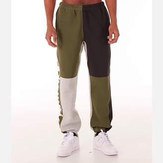 Champion Men's Reverse Weave Colorblock Jogger Pants