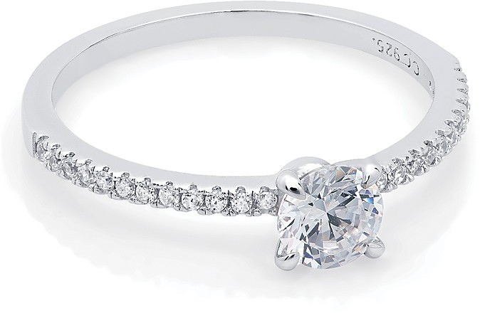 Crislu Micro Pave Solitaire Stackables Collection Brilliant Cut Ring